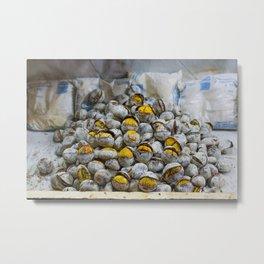 Roasted chestnuts Metal Print