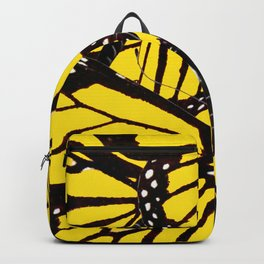 YELLOW BUTTERFLIES WING MIX PATTERN Backpack