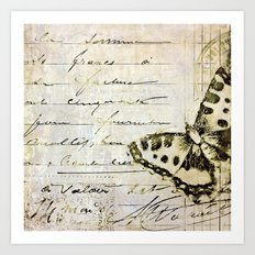 golden butterfly postale Art Print