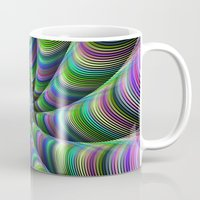 striped Mugs featuring Striped tentacles by David Zydd