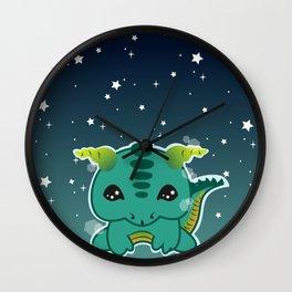 Kawaii Baby Dragon Wall Clock