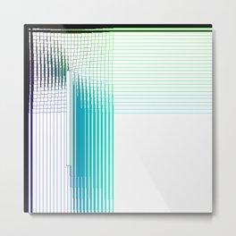 Blue Green Purple Thread Gradient Gridlines Metal Print