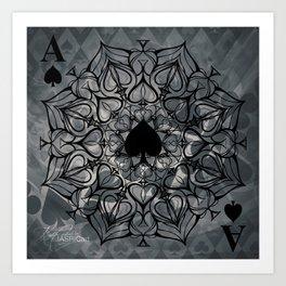 Ace of Spades Mandala Art Print