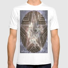 Hollywood Star with water drops Mens Fitted Tee MEDIUM White