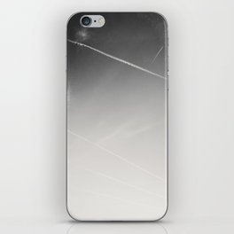 aweseome picture of contrails in the sky iPhone Skin
