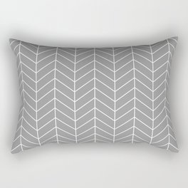 Grey Arrow Rectangular Pillow