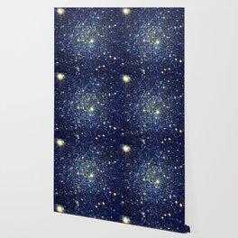 galaxY Stars : Midnight Blue & Gold Wallpaper