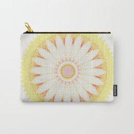 Sunshine Yellow Flower Mandala Abstract Carry-All Pouch