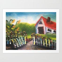 Barn Days Art Print