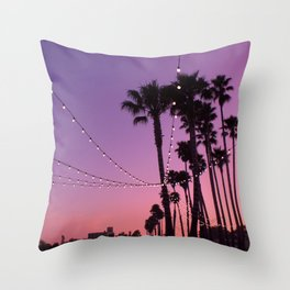 Lit Sunset Throw Pillow