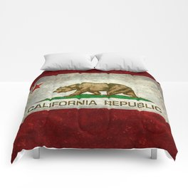 State flag of California in Grunge Comforters
