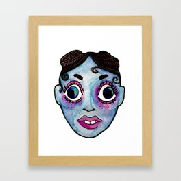 FKA Twigs watercolor face Framed Art Print