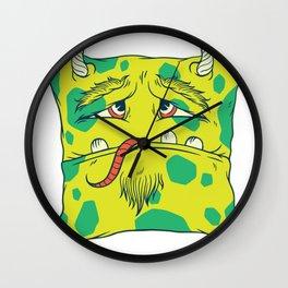 Monster as a pillow Wall Clock