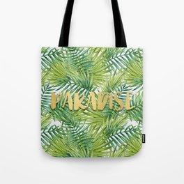 Paradise in Hawaiian Palm Tree Leaves Tote Bag