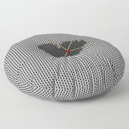 Original Knitted Heart Design Floor Pillow