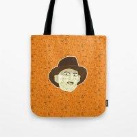 freddy krueger Tote Bags featuring Freddy Krueger by Kuki