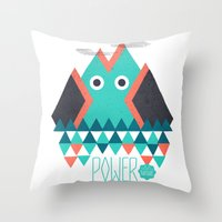 power Throw Pillows featuring Power by Studio Axel Pfaender
