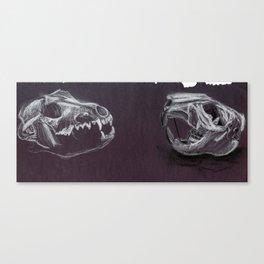 Still Life Black Paper Drawing Canvas Print