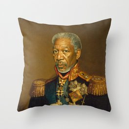 Morgan Freeman - replaceface Throw Pillow