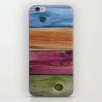 wooden iPhone & iPod Skins featuring Wooden Rainbow by Nicklas Gustafsson