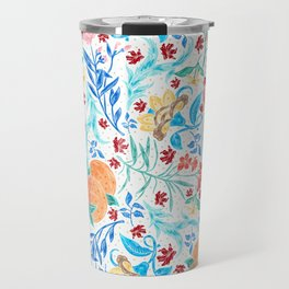 Good Fortune Asian Floral Pattern With Orange Blossoms Travel Mug