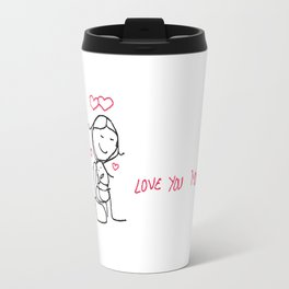 mom hug i love u Travel Mug