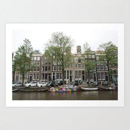 Abstract Amsterdam Boat Art Art Print
