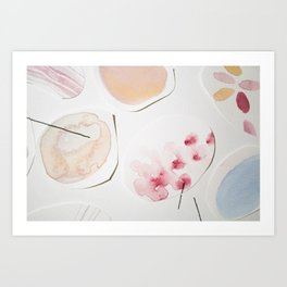 Minimalist Watercolor Collage Detail II Art Print