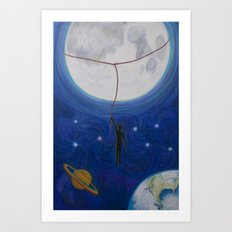 Can't Catch the Moon Art Print