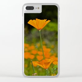 Tall Poppy Clear iPhone Case