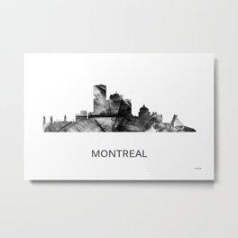 Montreal Quebec Canada Skyline WB-BW Metal Print