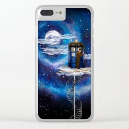 Live on the cloud in the BOX Doctor who iPhone 4 4s 5 5c 6 7, pillow case, mugs and tshirt Clear iPhone Case