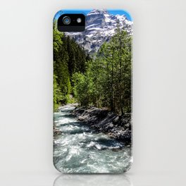 Hikes through Switzerland iPhone Case