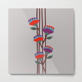 Émile Flowers Metal Print