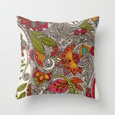 Random Flowers Throw Pillow
