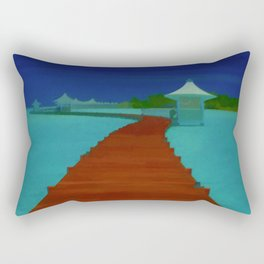 Maldives Travel Poster Rectangular Pillow