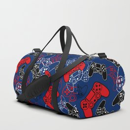 Video Games Red White & Blue Duffle Bag