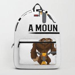Bigfoot Rides a Mountain Bike Backpack