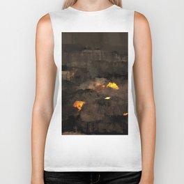 Abstract landscape nature texture lava fire geology digital illustration Biker Tank