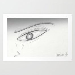 Crying Art Print