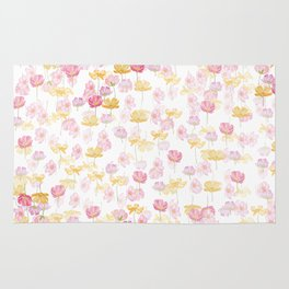 cosmos flower pattern Rug