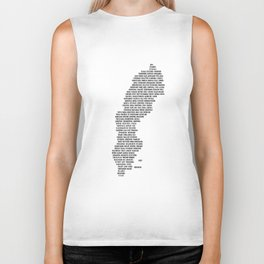 Cities in Sweden - white Biker Tank