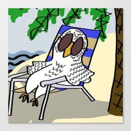 Beach Owl Canvas Print