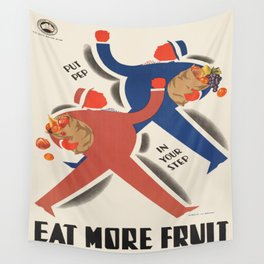 Vintage poster - Eat more fruit Wall Tapestry