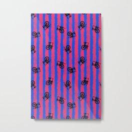 pink no blue bounding spinning wheel stripes 2 Metal Print