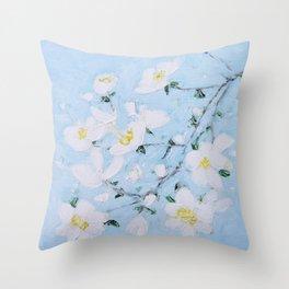 Dogwood Spring Throw Pillow