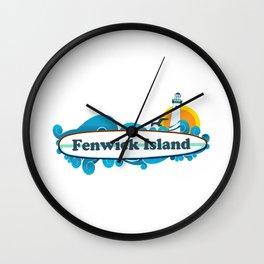 Fenwick Island - Delaware. Wall Clock