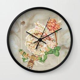 Honeybees and Buckwheat Wall Clock