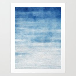 The Abstract Blue Art Print