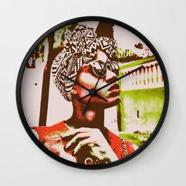 Stoic Orange Wall Clock